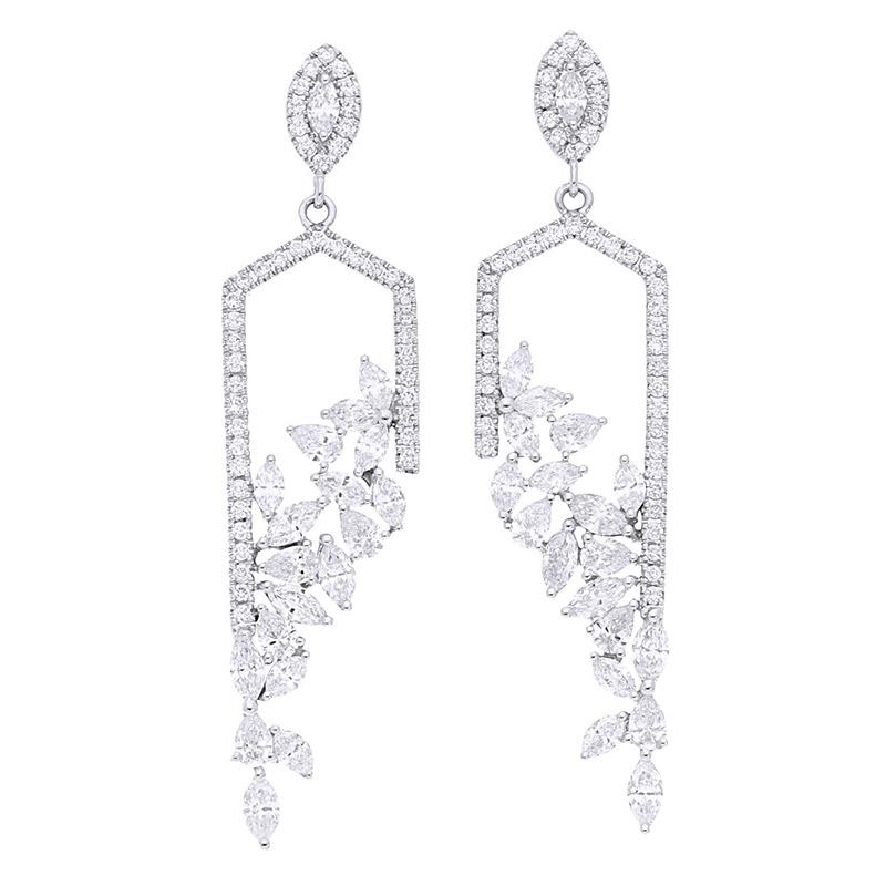 Deutsch Signature Fancy Diamond Drop Earrings