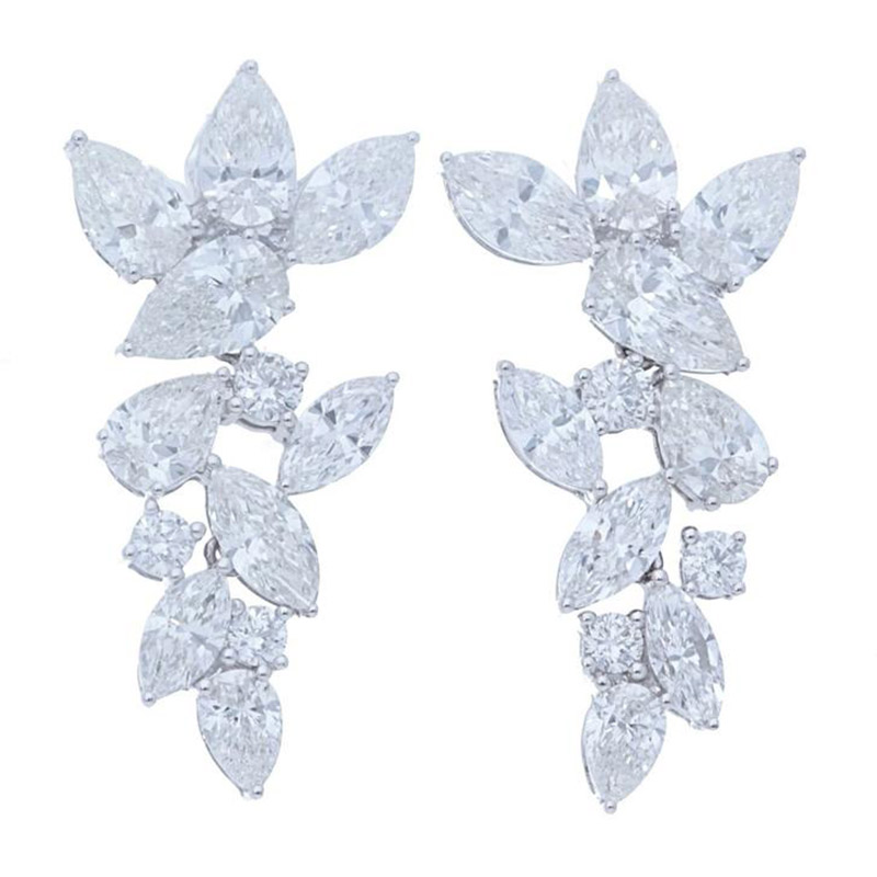 Deutsch Signature Pear and Marquise Diamond Stud Earrings