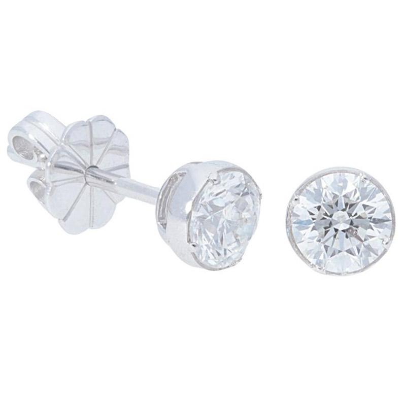 Deutsch Signature Diamond Bezel Stud Earrings
