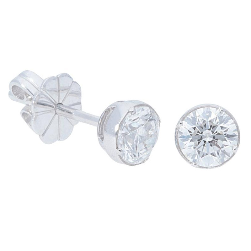 Deutsch Signature Diamond Bezel Stud Earrings