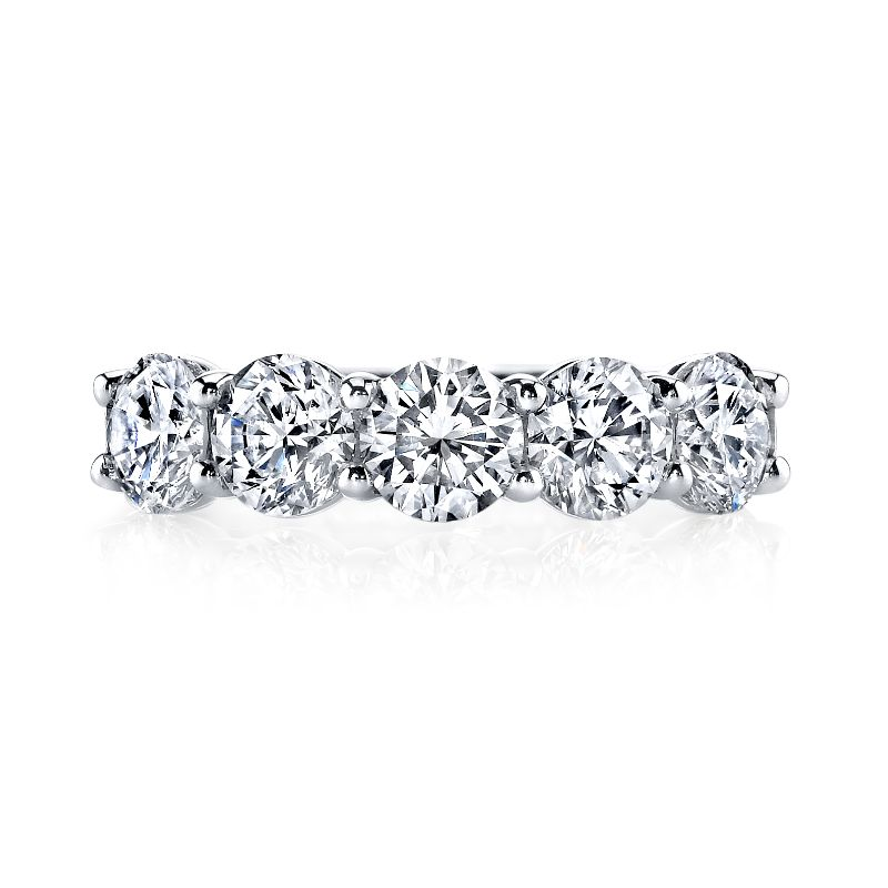 Deutsch Signature 5 Round Diamond Shared Prong Basket Set Band