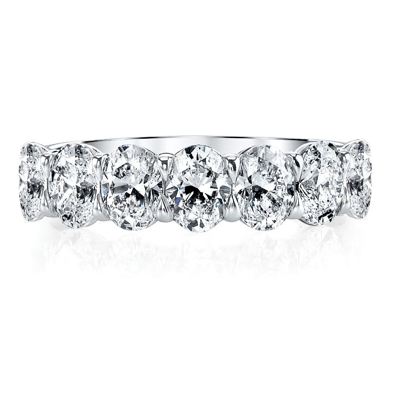 Deutsch Signature 7 Oval Diamond Shared Prong Basket Set Band