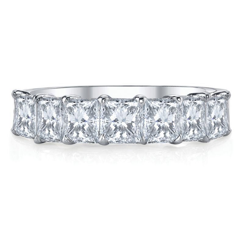 Deutsch Signature 7 Princess Diamond Shared Prong Basket Set Band