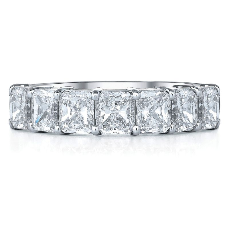 Deutsch Signature 7 Radiant Diamond Shared Prong Basket Set Band