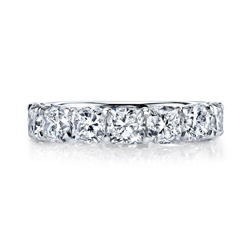 Deutsch Signature 7 Cushion Diamond Shared Prong Basket Set Band