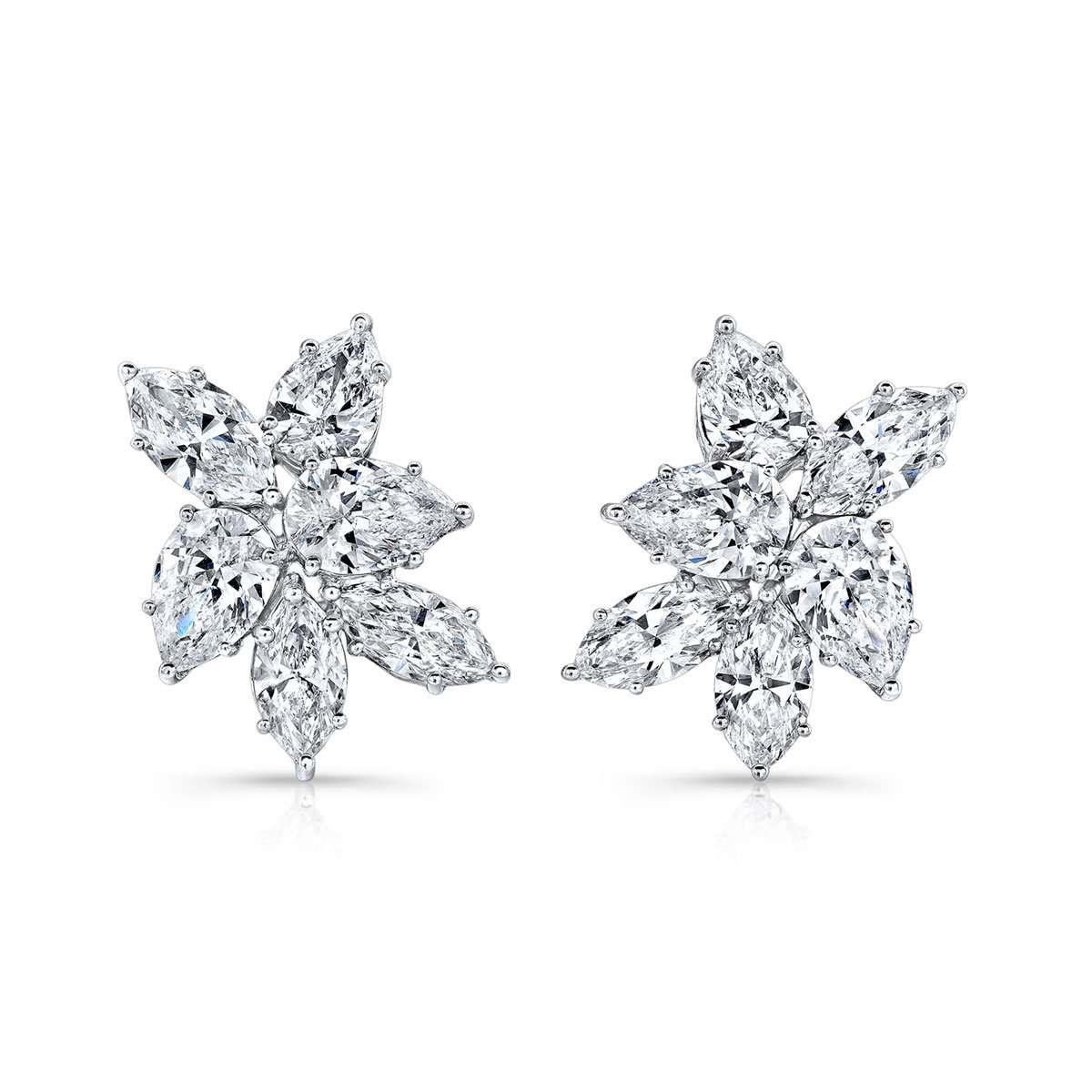 Deutsch Signature Diamond Cluster Earrings