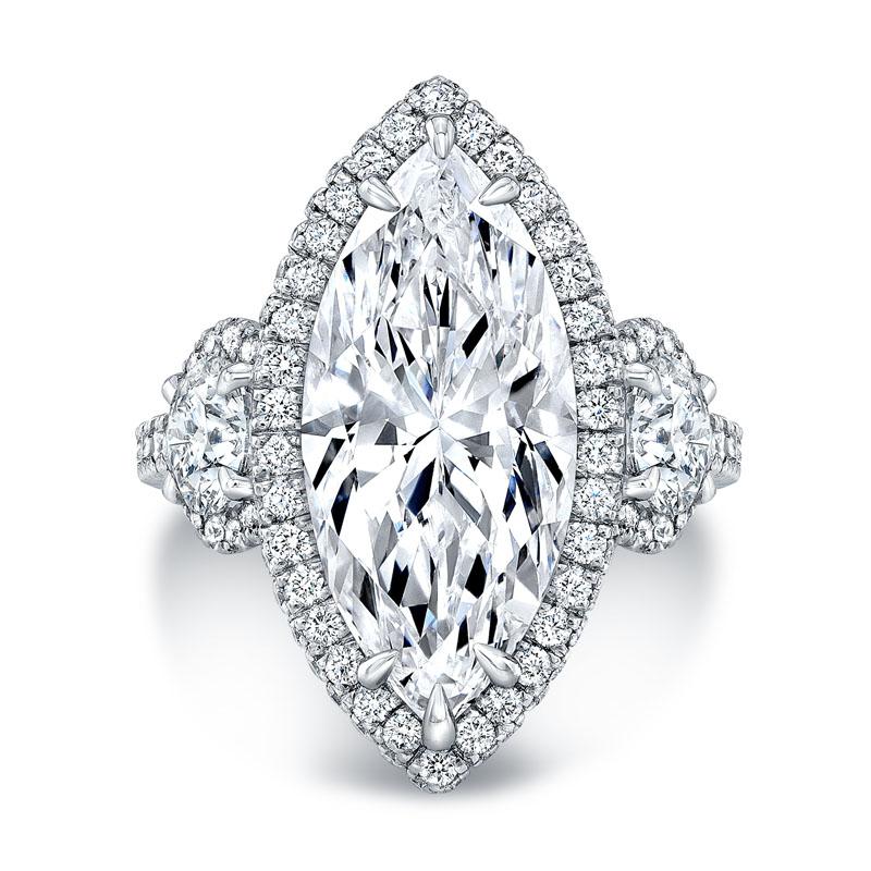Deutsch Signature Diamond Halo Engagement Ring