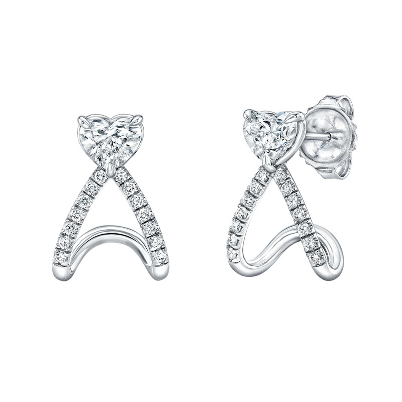 Norman Silverman Diamond Huggie Earrings