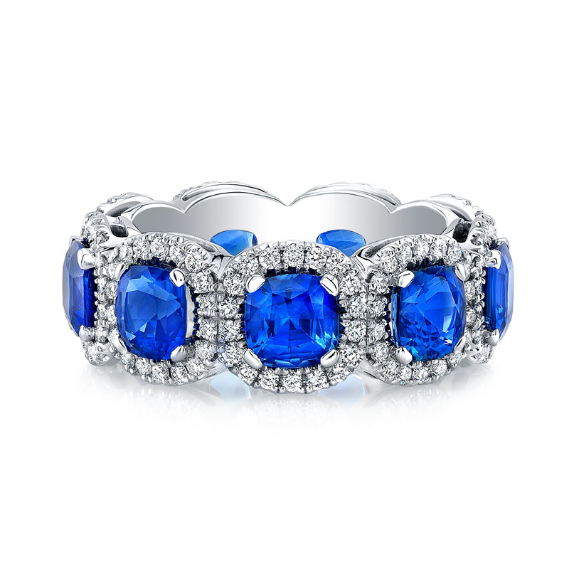 Deutsch Signature Sapphire and Diamond Eternity Ring