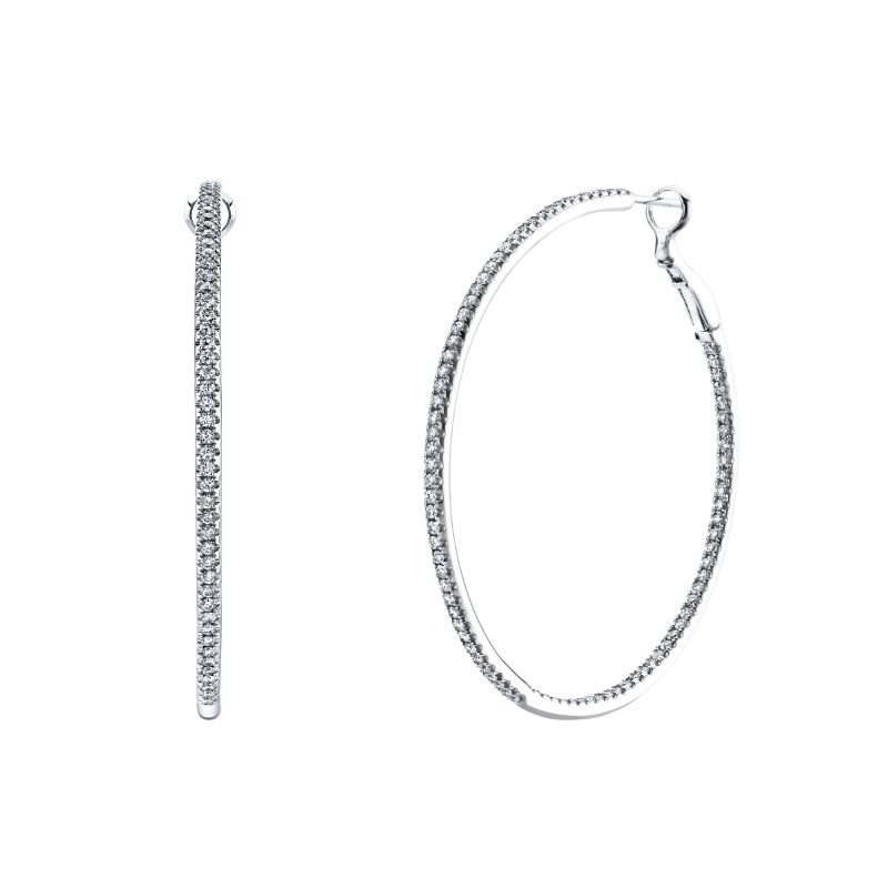 Deutsch Signature Round Micro Wire/Micro Set Hoop Earrings