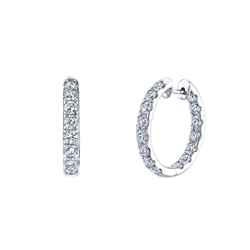 Deutsch Signature Round Wire U-Pave Hoops