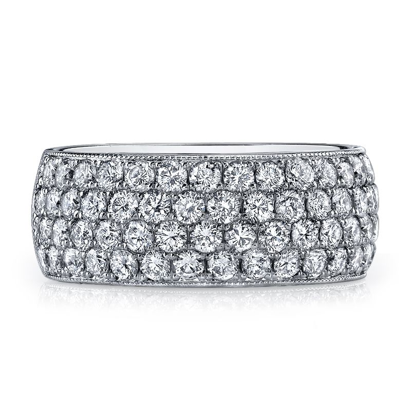 Deutsch Signature Domed Pave Eternity  Band