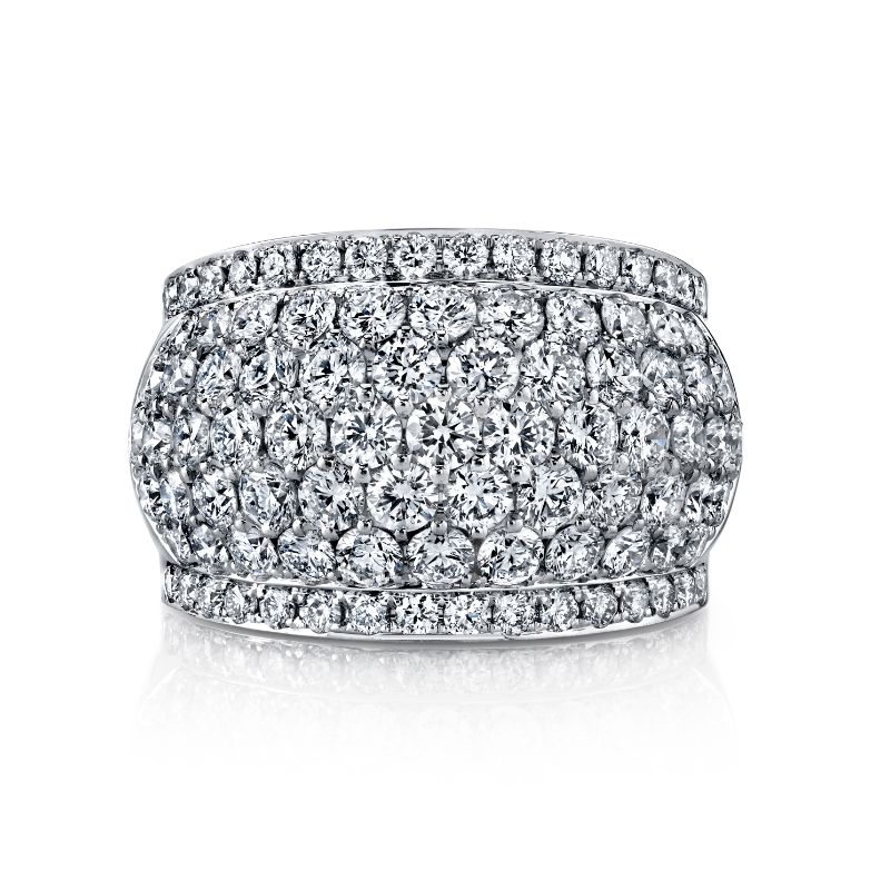 Deutsch Signature Wide Micro Pave Domed Eternity  Band