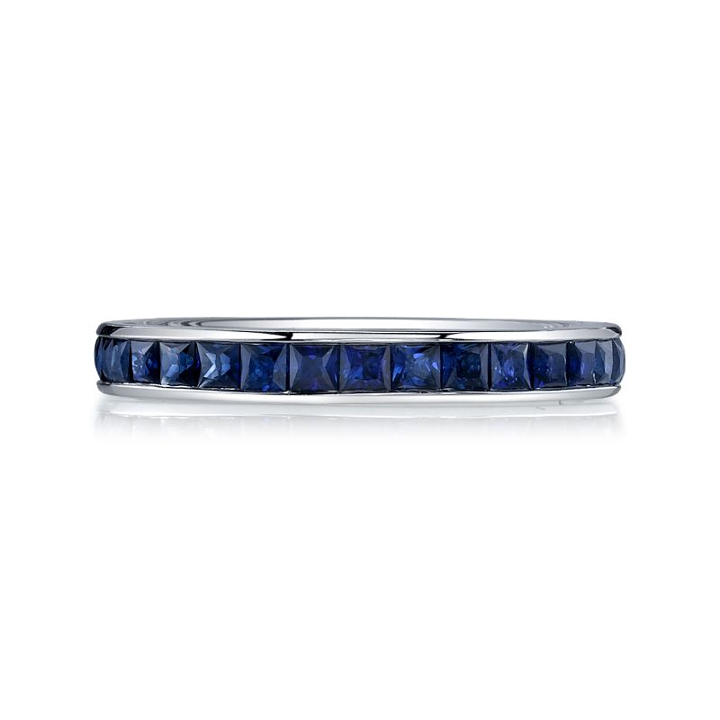 Deutsch Signature Sapphire Channel set Eternity Band
