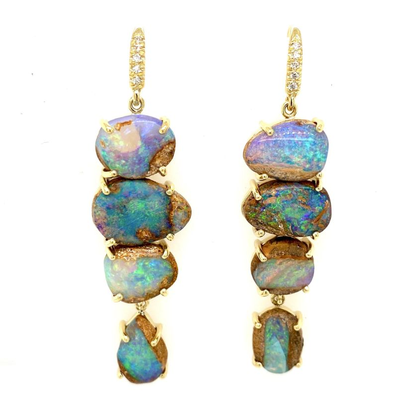 Lauren K Boulder Opal 4 Stone Joyce Earrings