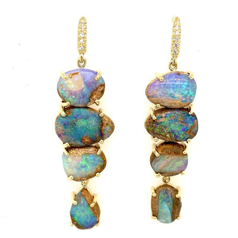 Lauren K Boulder Opal 4 Stone Joyce Earrings