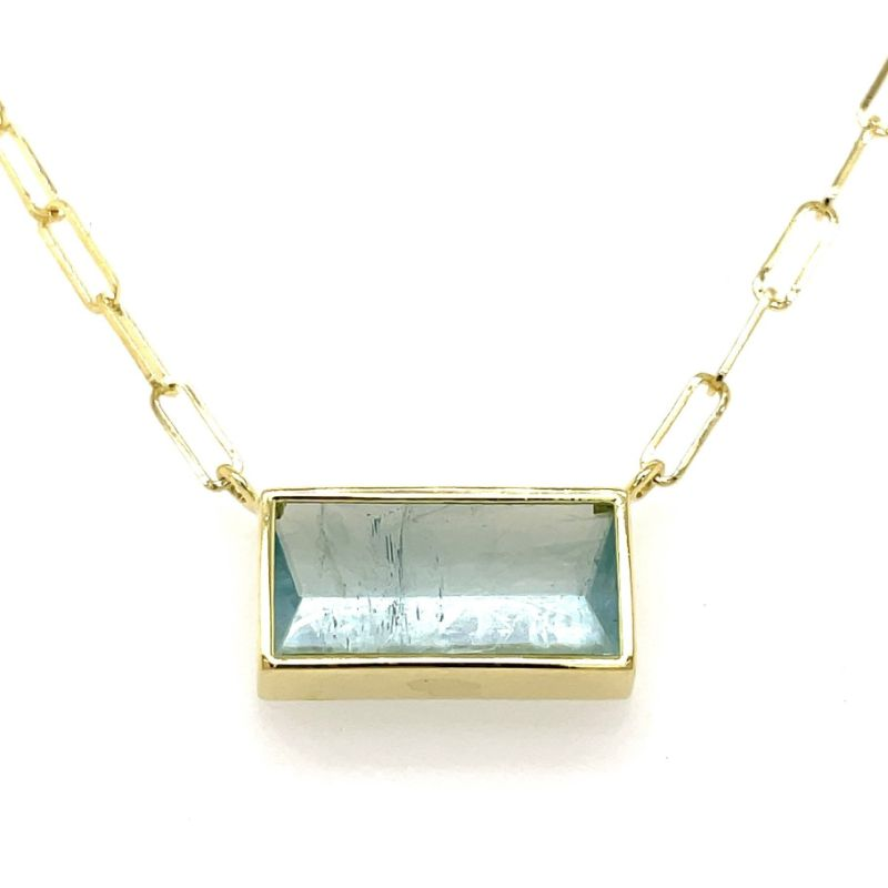 Lauren K Aquamarine Bea Necklace