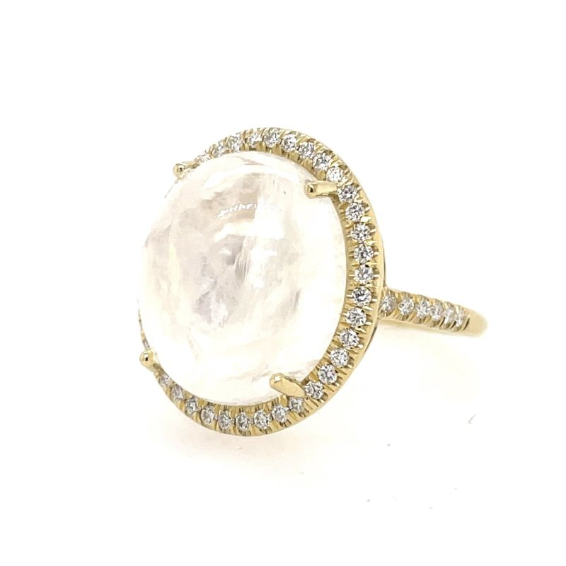 Lauren K Oval Cabochon Moonstone Mischa Ring