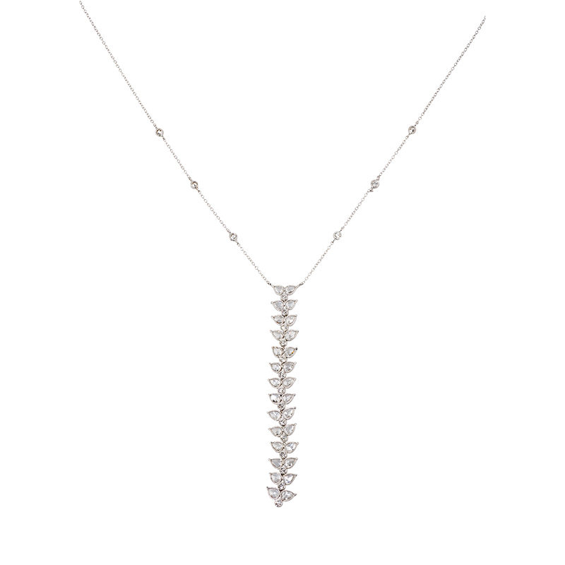 John Apel Rose Cut Diamond Feather Pendant