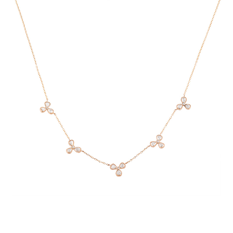 John Apel Rose Cut Diamond Necklace
