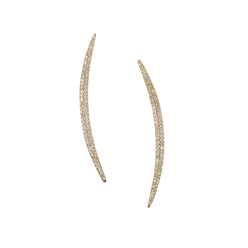 John Apel Diamond Cresent Earrings