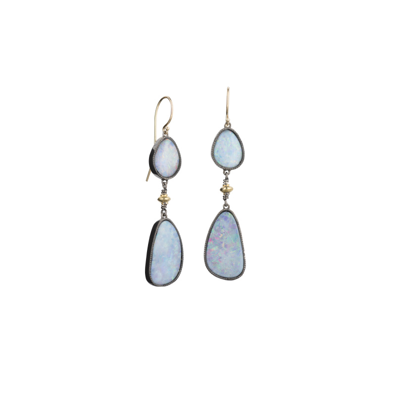 John Apel Opal Drop Earrings