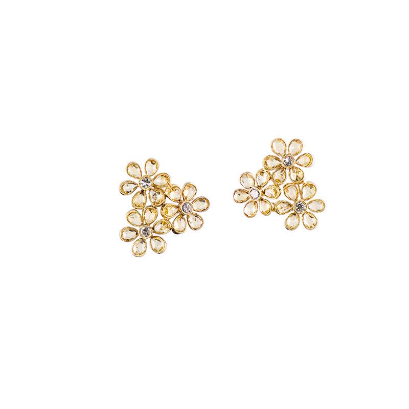 John Apel Bouquet Sapphire Earings