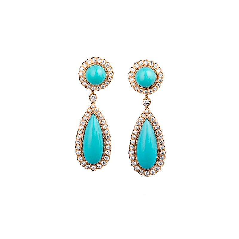 John Apel Sleeping Beauty Tuquoise Earrings