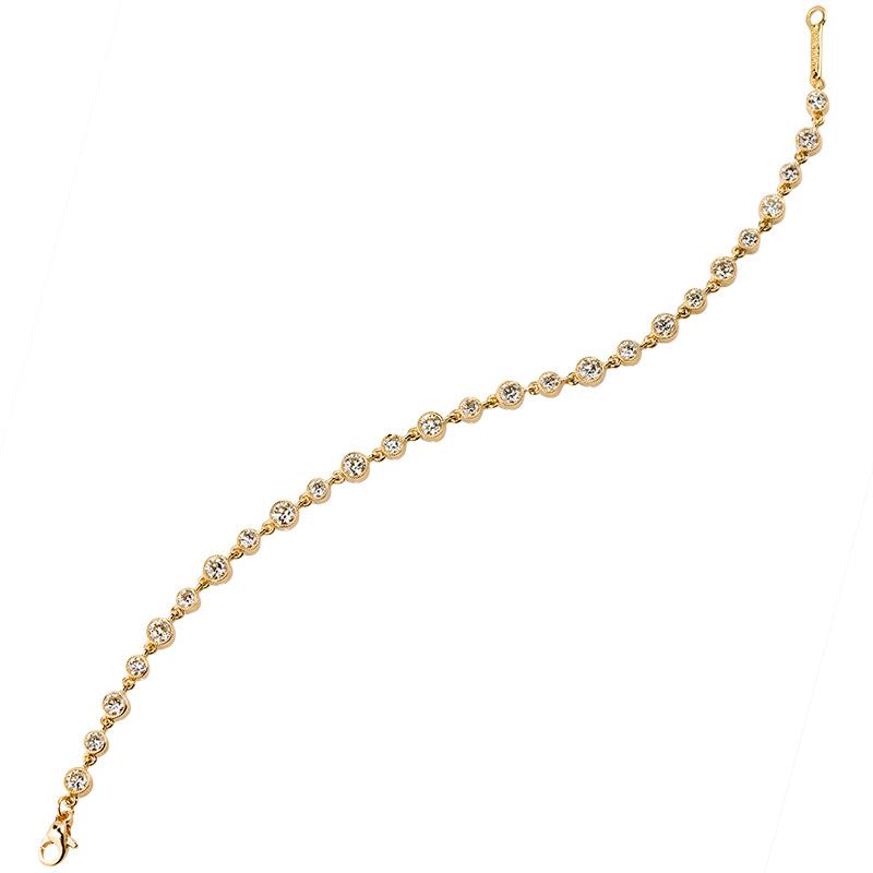 John Apel Bezel Set Diamond Bracelet
