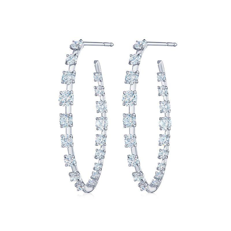 Kwiat Hoop Starry Night Diamond Earrings