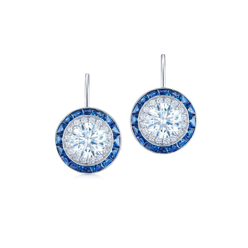 Kwiat Silhouette Diamond and Sapphire Earrings