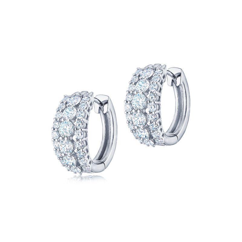 Kwiat Huggie Lyric Diamond Earrings