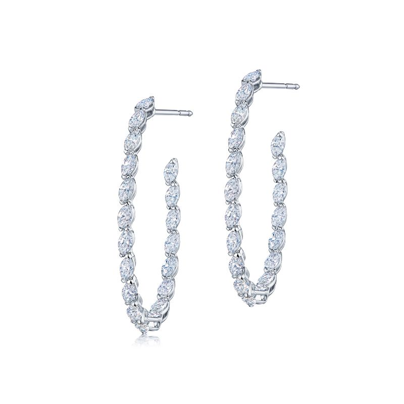 Kwiat Hoop Hoops Diamond Earrings