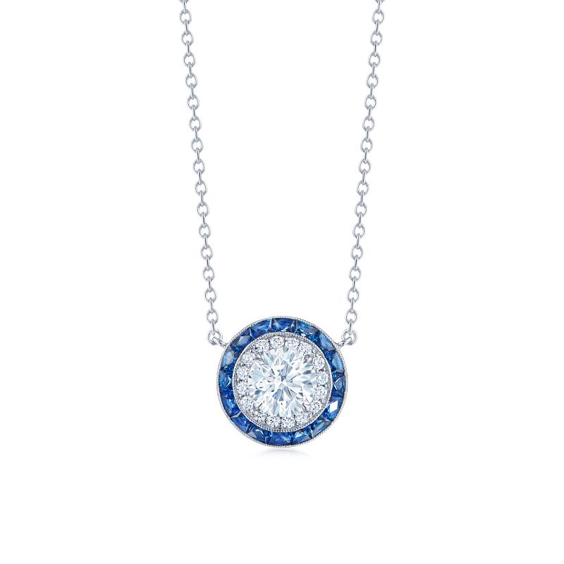 Kwiat Silhouette Diamond and Sapphire Pendant