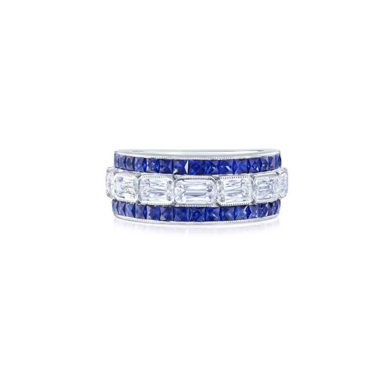 Kwiat Ashoka ® Diamond and Sapphire Halfway Band