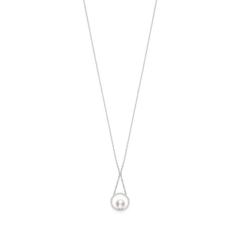 Pendant Akoya A+ 7mm(1) Diamond 0.19ct(31) 18KWG 17.5