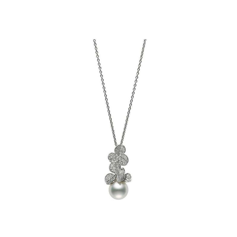 Pendant WSSP A+ 12mm(1) R Diamond 0.93ct(103) 18KWG 19.5inch
