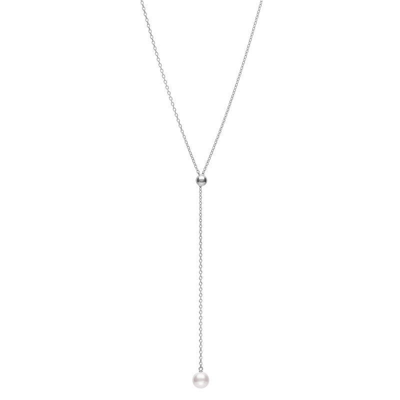 Mikimoto Akoya Cultured Pearl Lariat Pendant Necklace