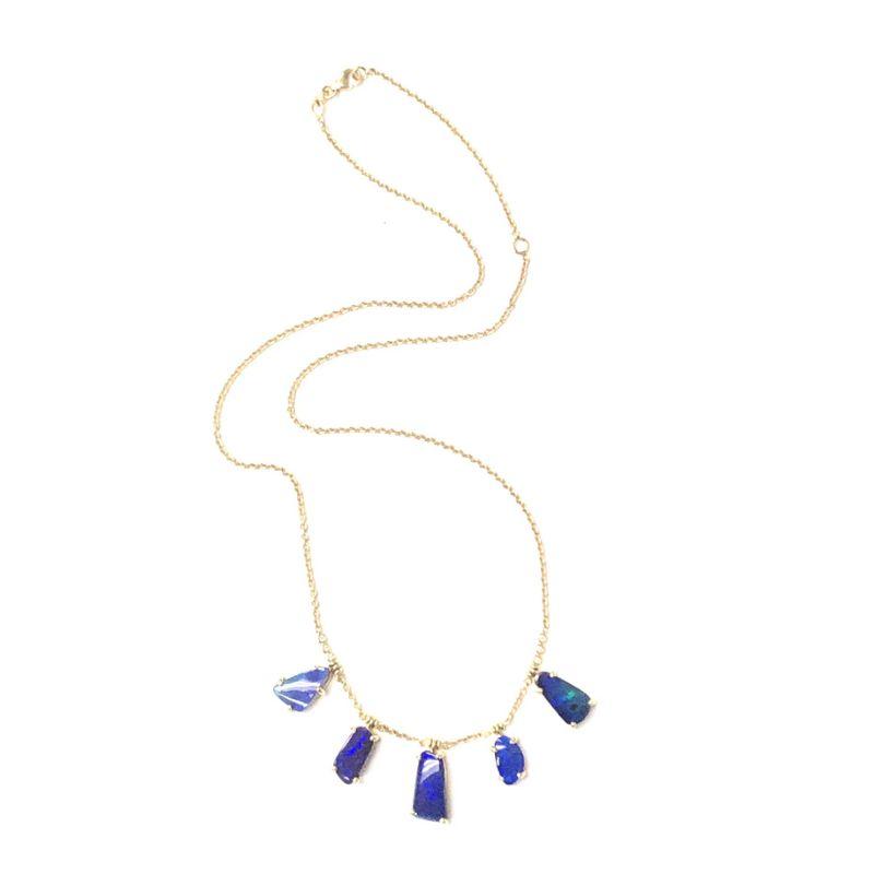 Lauren K Joyce Boulder Opal Fringe Necklace