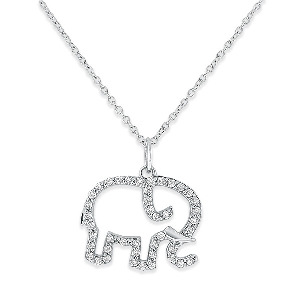 Deutsch Signature Diamond Open Elephant Necklace