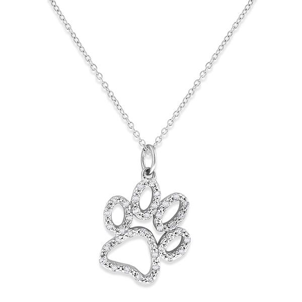 Deutsch Signature Diamond Large Paw Necklace