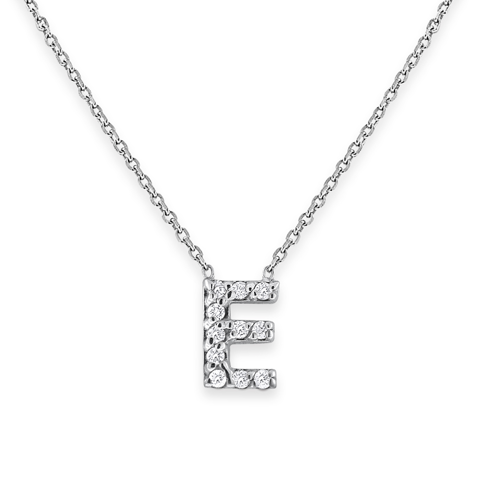Deutsch Signature Bitty Block Letter E Pendant