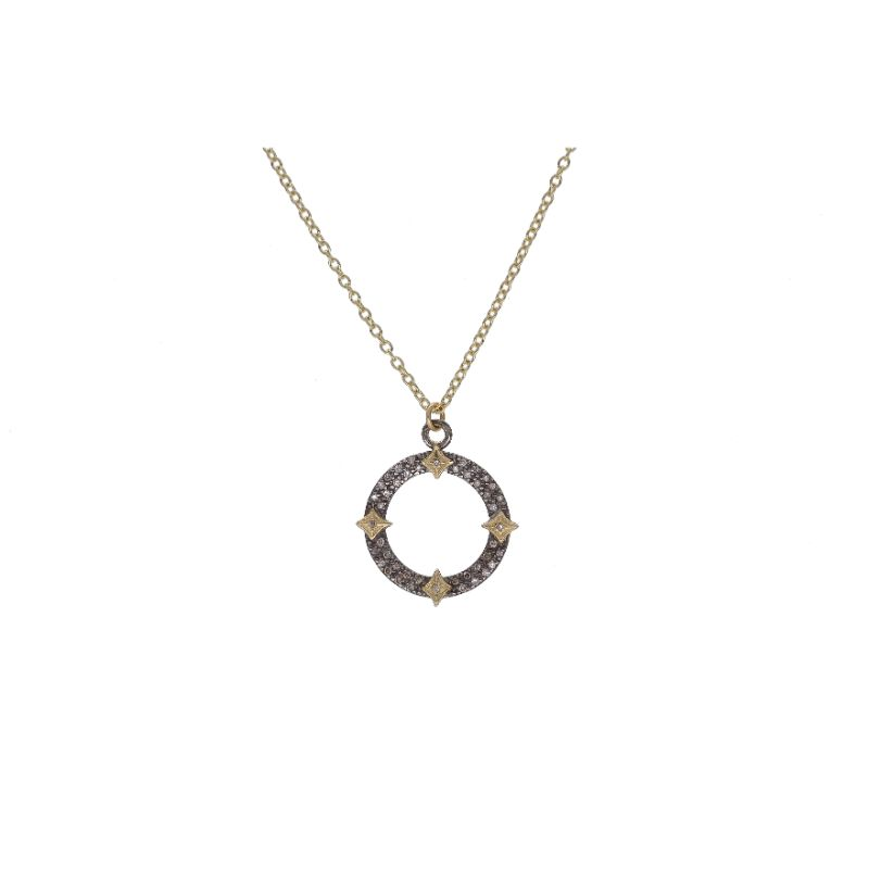 Old World Open Circle Crivelli Pendant Necklace