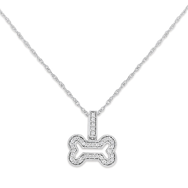 Deutsch Signature Diamond Dogbone Pendant