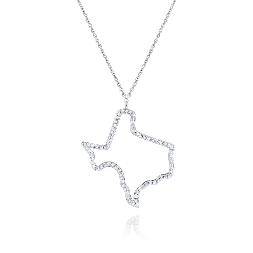 Deutsch Signature Diamond Texas State Necklace