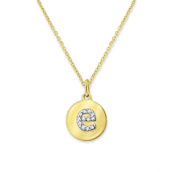 Deutsch Signature Mini Disc Diamond e Pendant with Chain