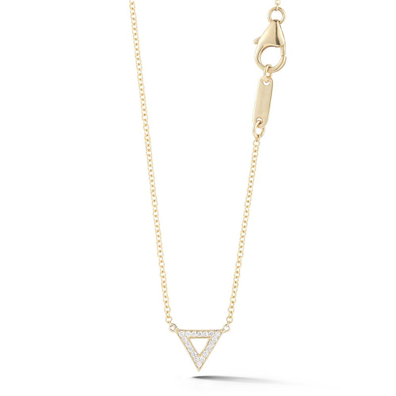 Deutsch Signature Open Pave Diamond Triangle Necklace