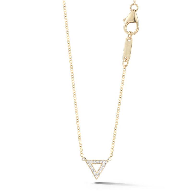 Deutsch Signature Open Pave Diamond Triangle Necklace