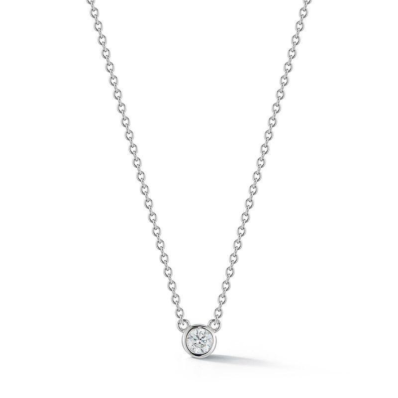 Deutsch Signature Single Polished Bezel Diamond Necklace