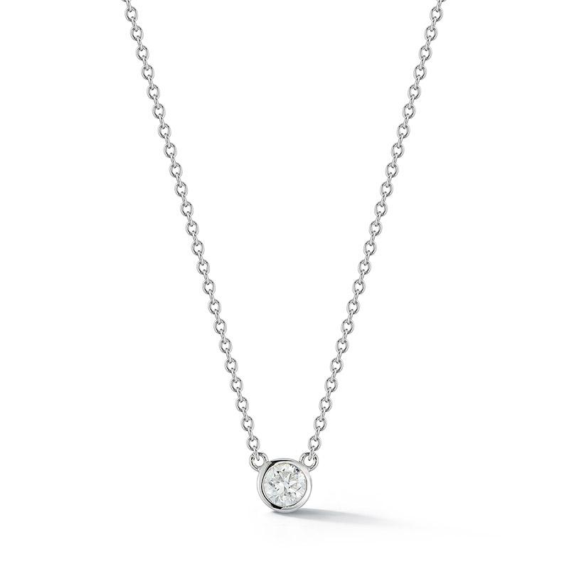 Deutsch Signature Single Polished Bezel Diamonds by the Yard Necklace